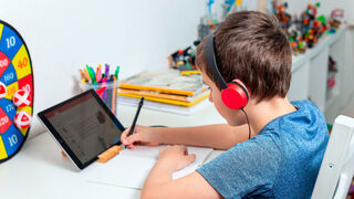 With the own Tablet at home, only 36 percent of students can learn.