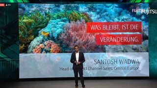 Santosh Wadwa, Head of Channel Sales at Fujitsu, gave the Keynote address on the virtual partner day.