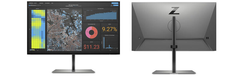 The Full-HD Monitor Z24f G3 HP 23.8-inch IPS Panel is calibrated at the factory. The anti-glare and nearly borderless Display, delivering a sRGB color space coverage of 99 percent.