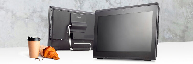 The Aquado All-in 15 E8 and the larger sister model All-in 19 E7 do not require a fan. The touchscreen computers are also designed for 24/7 continuous operation.